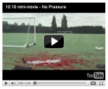 "screen capture of 10:10 campaign's ""No Pressure"" video on YouTube as it appeared on Sept. 30, 2010"