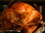 our 2007 Thanksgiving turkey, prepared by my husband