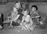 Migrant mother & children. Texas, 1939. Please see photo credit at the bottom of this post.