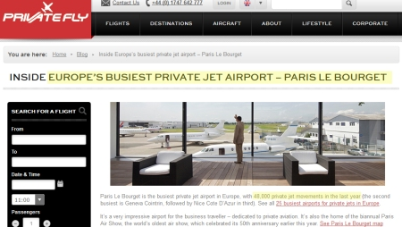 COP21_busiest_private_jet_airport